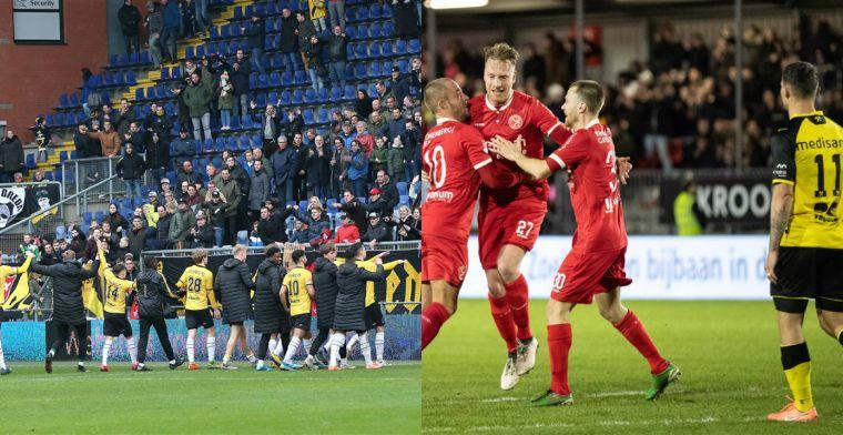 NAC bovenaan tv-ranking, meevaller Almere City, klappen voor Roda en Eindhoven