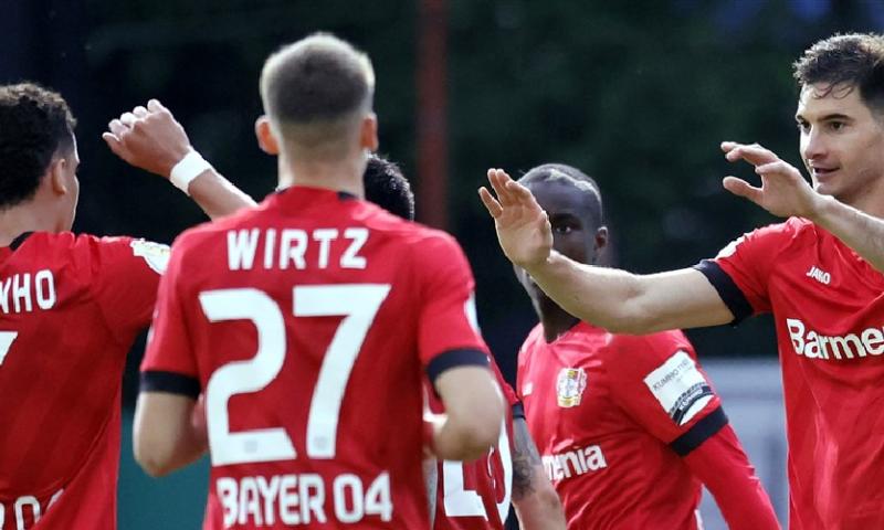 Afbeelding: Bayer Leverkusen plaatst zich met speels gemak voor finale van DFB Pokal