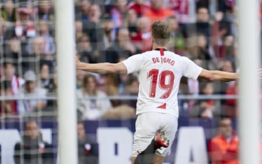 Afbeelding: Man van de wedstrijd De Jong ziet Sevilla in slotfase punten verspelen