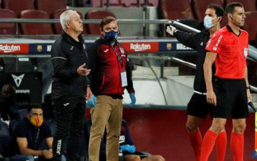 Afbeelding: Leganés-trainer doet fluitsignaal na en krijgt in minuut 95 (!) rood tegen Barça