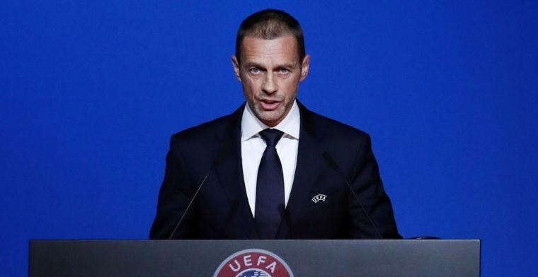 UEFA-baas Ceferin: 'Ons best gedaan, maar waarschijnlijk is het onvoldoende'