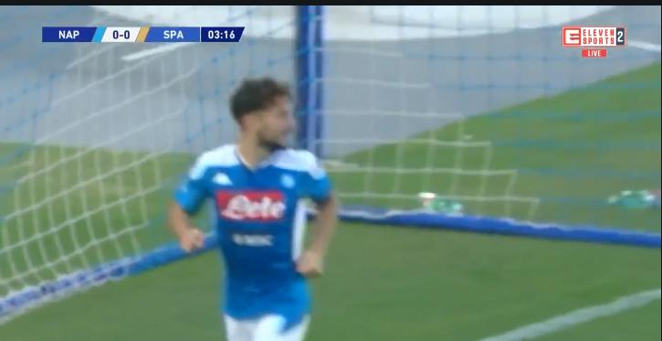GOAL: Mertens komt aan 123 doelpunten voor Napoli na vroege openingsgoal