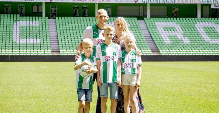 Robben op de fiets naar FC Groningen: 'Voor andere club had ik dit niet gedaan'
