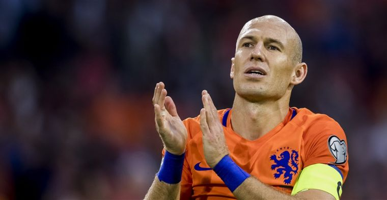 Robben: Volgens mij hebben ze het ook goed op de rit daar bij Oranje