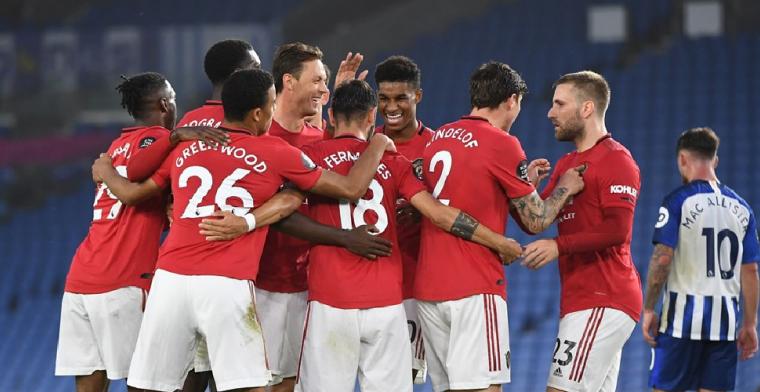 Man United heeft het helemaal op de rit en klimt naar plek vijf