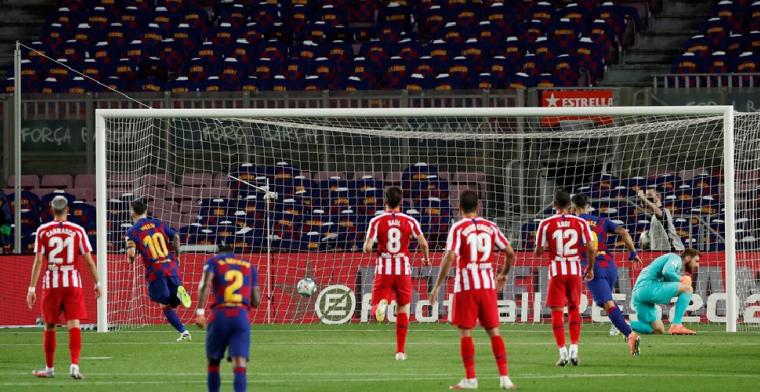Penaltyfestival in Camp Nou, FC Barcelona raakt verder achterop in titelstrijd