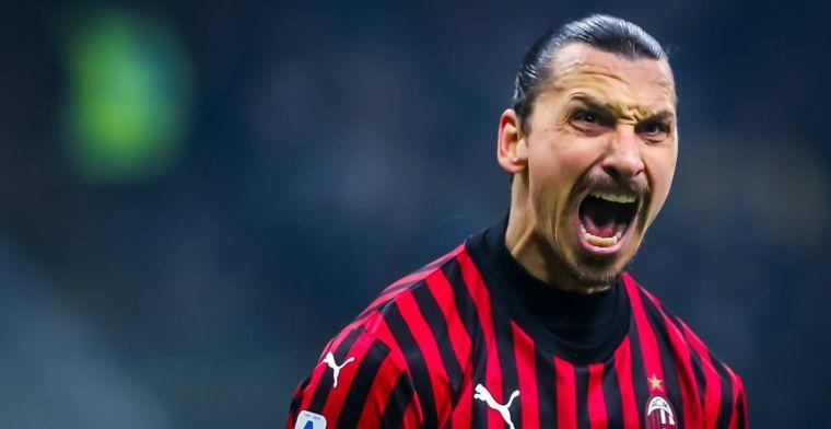 Milan blameert zich, maar maakt 0-2 achterstand goed bij rentree Ibrahimovic
