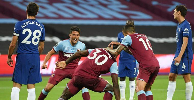 Slecht nieuws voor Ziyech: West Ham verrast Chelsea en leidt spannende climax in