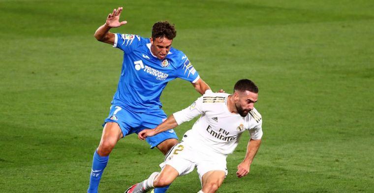 Real ontsnapt tegen Getafe dankzij penalty Ramos en zet Barça op achterstand