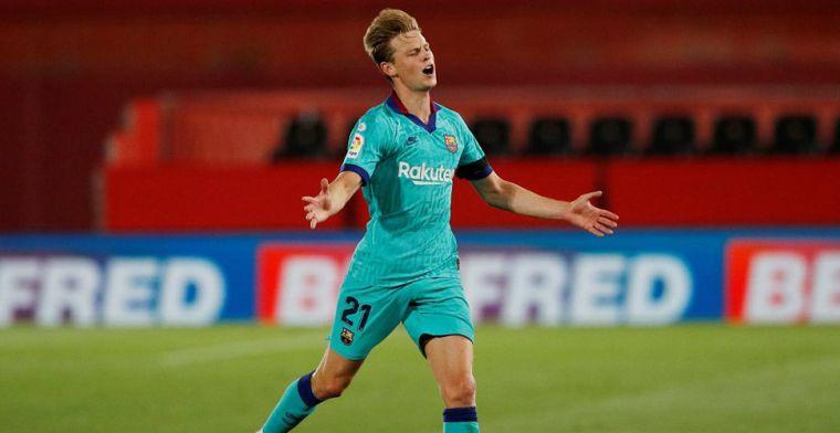 SPORT legt vinger op zere Barça-plek: 'De Jong opvolger van Xavi en Iniesta'