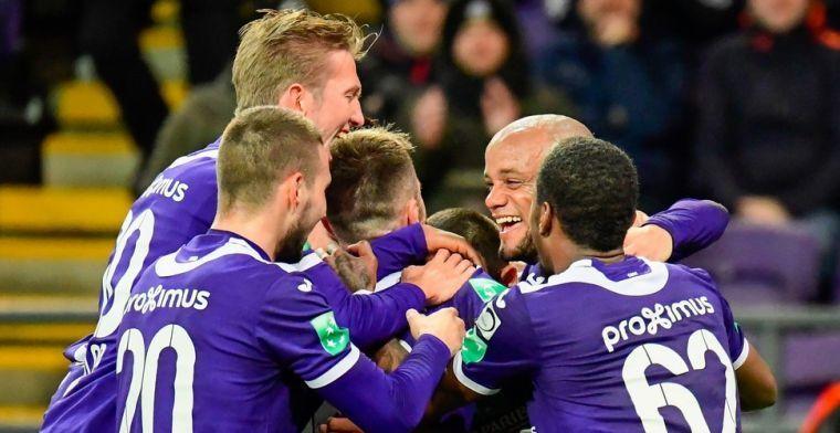 Anderlecht weet eerste oefenwedstrijd niet te winnen, Kompany begaat penaltyfout