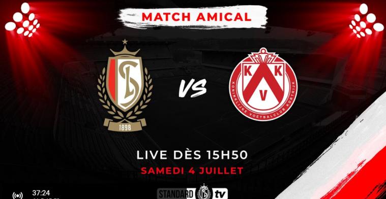 LIVE: Standard neemt het op tegen KV Kortrijk