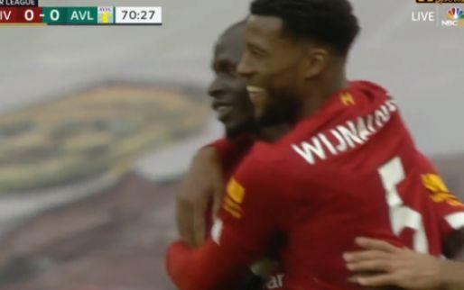 Liverpool is eindelijk ontwaakt: Mané schiet onderkant lat binnen