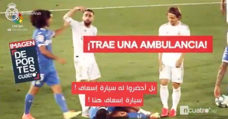 Real Madrid is helemaal klaar met toneelspel Getafe: Bel een ambulance!