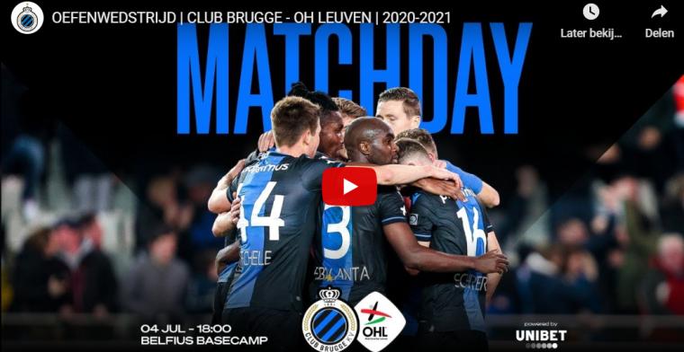 Oefenmatch Club Brugge - Oud-Heverlee Leuven levert 220.000 kijkers op
