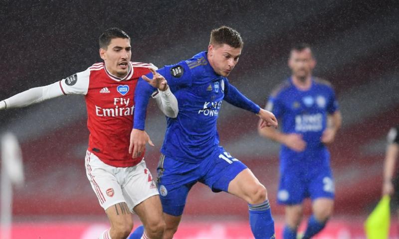 Afbeelding: Vardy redt punt voor Leicester City en beëindigt sterke reeks van Arsenal