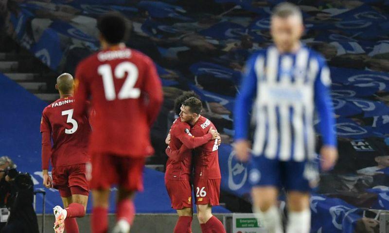 Afbeelding: Kampioen Liverpool geeft bliksemstart in Brighton geen vervolg, maar wint opnieuw