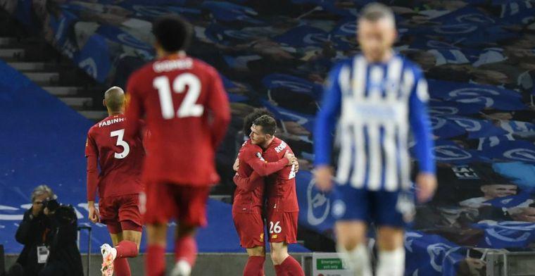 Kampioen Liverpool geeft bliksemstart in Brighton geen vervolg, maar wint opnieuw
