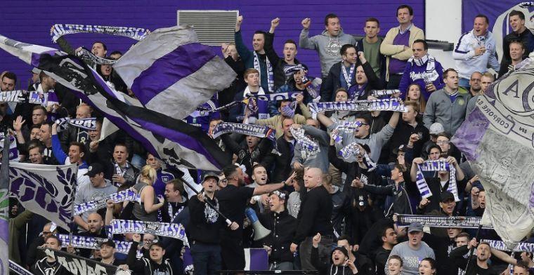 Supporters Anderlecht protesteren voor bondsgebouw: 'Jullie maken voetbal kapot'