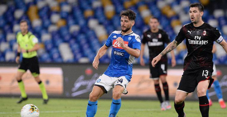 Spanning in strijd Europese tickets in Serie A blijft: gelijkspel bij Napoli-Milan