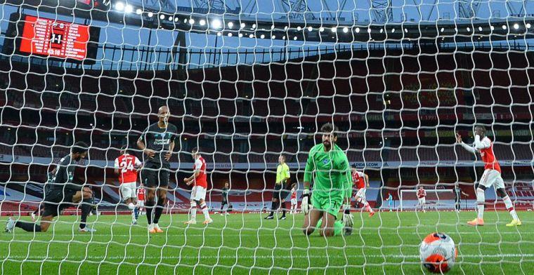 Liverpool schiet zichzelf in de voet: blunders Van Dijk en Alisson, géén record