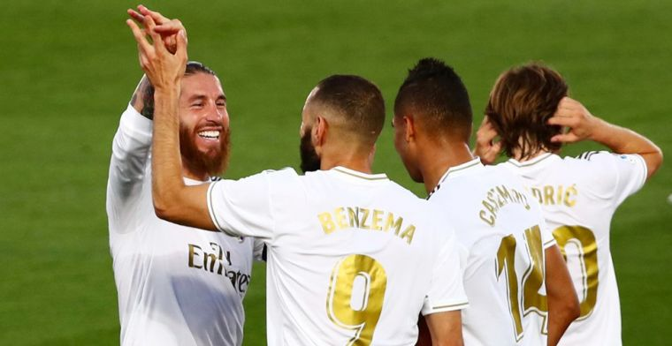 Courtois en Hazard vieren feest: Real Madrid voor het eerst sinds 2017 kampioen