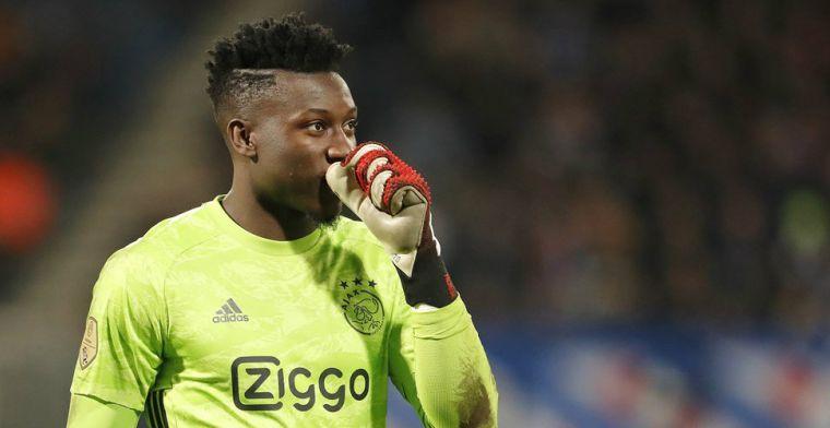 Beweging rondom Ajax-keeper Onana: 'Die hebben gewoon contact gezocht'