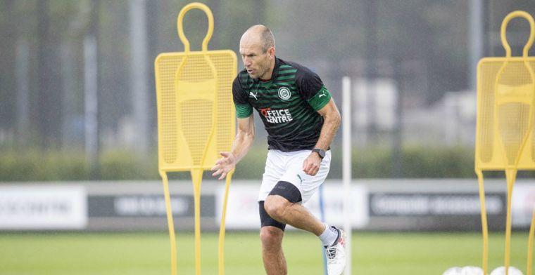Buijs blijft rekenen op afwezige Robben: 'De rest komt er vanzelf wel bij'
