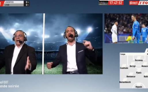 "L'Équipe-commentatoren uit hun dak na panenka Memphis: ""La panenka! Incroyable"""