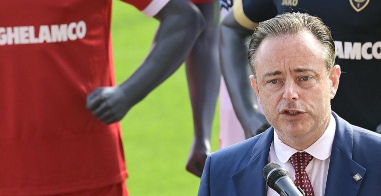 Oeps: De Wever heeft Wikipedia-pagina van Antwerp niet goed gelezen
