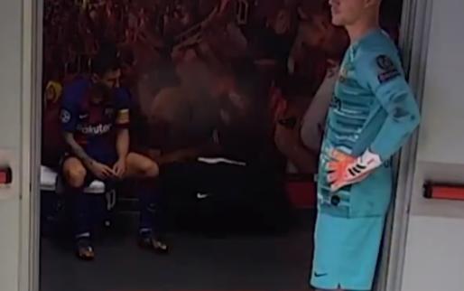 Unieke beelden: Messi zit verslagen in kamertje na historische afgang
