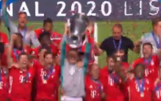Dolle vreugde bij Bayern: aanvoerder Neuer tilt Champions League-beker de lucht in