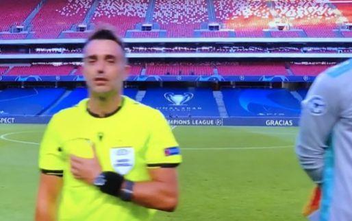 Curieus: grensrechter doet alles verkeerd bij Champions League-hymne