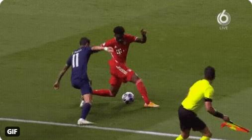 Doelpuntloos PSG - Bayern verveelt geen minuut: panna Di María bij Davies