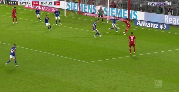 Bayern vernedert hulpeloos Schalke: rabona-voorzet Lewandowski, 6-0 in minuut 70