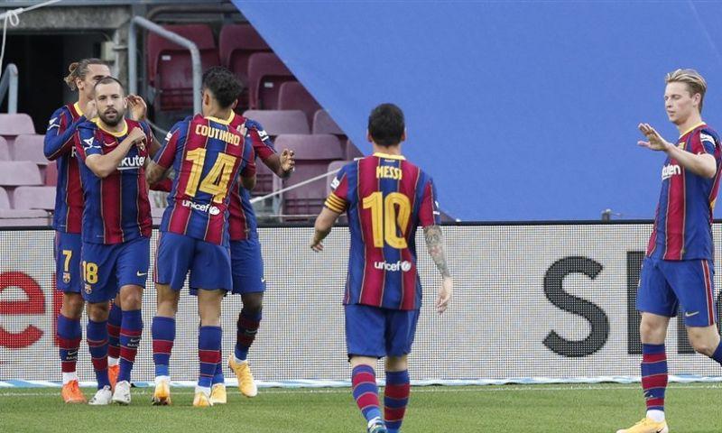 Afbeelding: Barça en Koeman veroveren Trofeu Joan Gamper na minimale zege