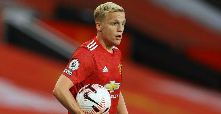 Van de Beek teleurgesteld, ondanks goal bij debuut: 'Te langzaam, te veel tijd'