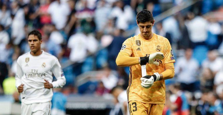 """Courtois over situatie bij Real Madrid: """"Hebben stuk van ons loon ingeleverd"""""""