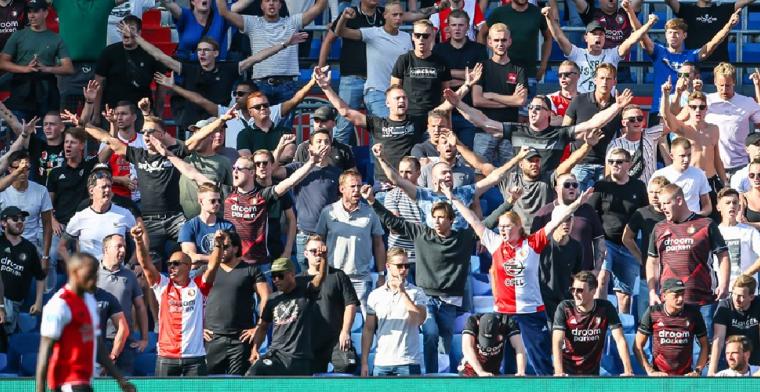 Ophef over luide Feyenoord-fans: 'Als dat al niet meer mag wordt het vervelend..'