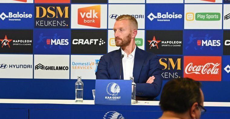 De Decker ziet mogelijkheden voor KAA Gent: De spelers gaan mee in ons verhaal