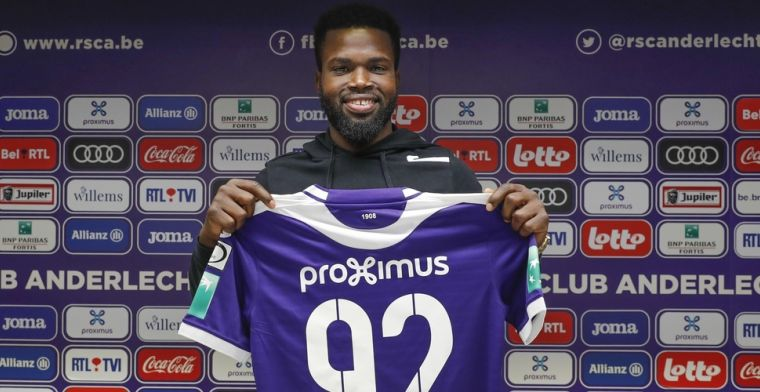 'Na maanden privéproblemen is Lawrence gespot op training van Anderlecht'