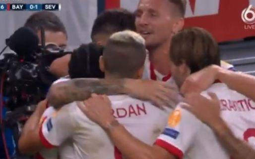 Sevilla verrast Bayern München: hoofdrol De Jong, no-look penalty Ocampos