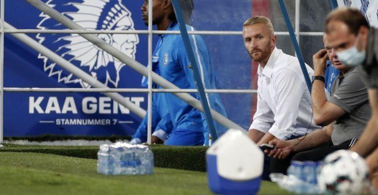 KAA Gent krijgt koude douche en slikt twee doelpunten voor de rust