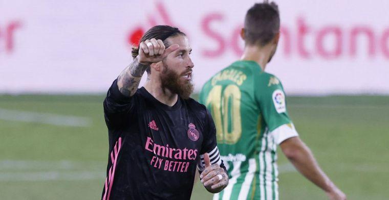 Real Madrid dankt clubicoon Ramos tegen Betis: late panenka genoeg voor de punten