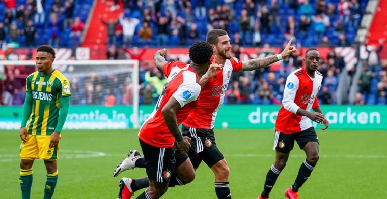 LIVE: Feyenoord wint voetbalgevecht van ADO, omhaal Senesi hoogtepunt (gesloten)