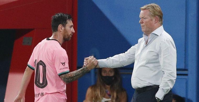 Koeman: 'Ik ga na de uitspraken van Messi geen rustiger leven krijgen'