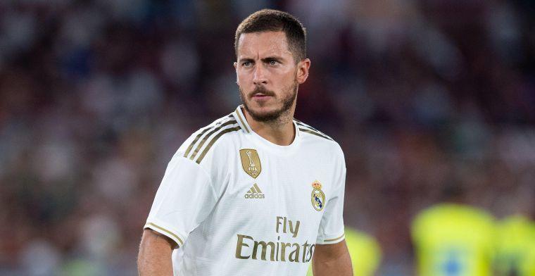 """Hazard blijft pech kennen bij Real Madrid: """"Dacht dat het een grap was"""""""