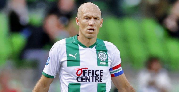 Robben meldt zich na forse tegenslag weer op trainingsveld van FC Groningen