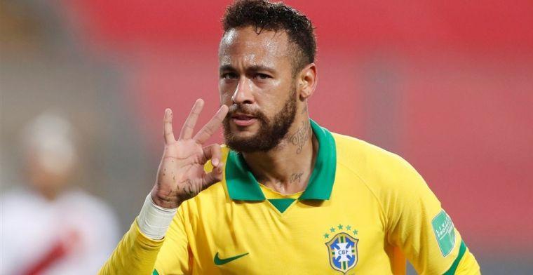 Neymar achterhaalt Ronaldo op topscorerslijst Brazilië met hattrick tegen Peru