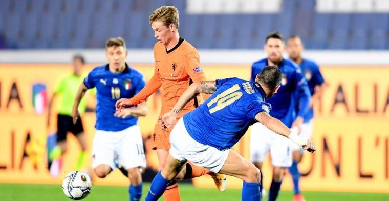 Hoogste Oranje-cijfers in Italië voor Frenkie de Jong: 'Pure voetbalintelligentie'